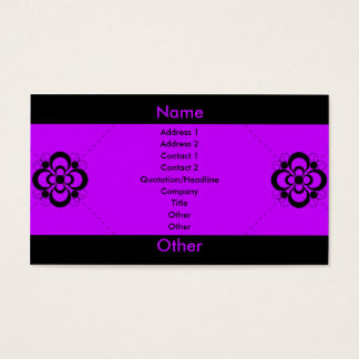 Charlize - Purple Business Card