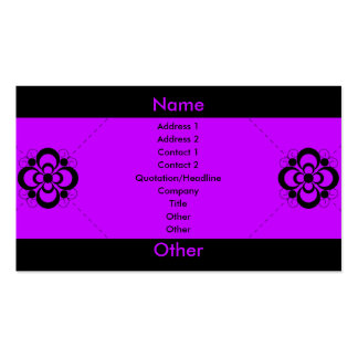 Charlize - Purple Pack Of Standard Business Cards
