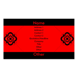 Charlize - Red Pack Of Standard Business Cards