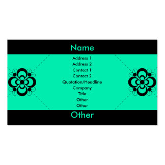 Charlize - Sea Foam Pack Of Standard Business Cards
