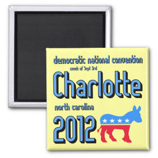Charlotte 2012 square magnet