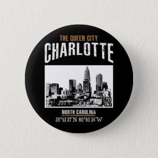 Charlotte 6 Cm Round Badge