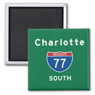 Charlotte 77 square magnet