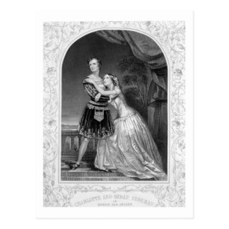 Charlotte and Susan Cushman as Romeo and Juliet, A Postcard