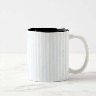 Charlotte Blue and White Stripes Pale Blue Two-Tone Mug