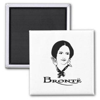 Charlotte Bronte Square Magnet