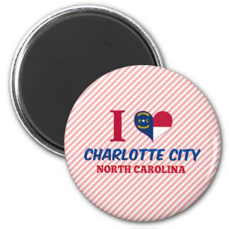 Charlotte City, North Carolina Fridge Magnets