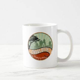 Charlotte City Skyline Retro Vintage Mug
