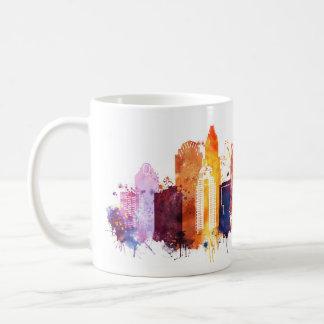 Charlotte cityscape coffee mug