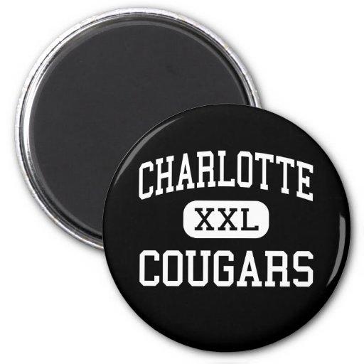 Charlotte - Cougars - Catholic - Charlotte Magnet