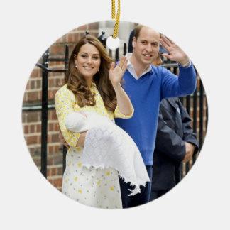 Charlotte Elizabeth Diana - British Will Kate Round Ceramic Decoration