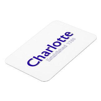 "Charlotte Established 3""x4"" Flexible Photo Magnet"