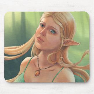 Charlotte - Fantasy Elven Portrait Mouse Pad