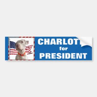 Charlotte for President Bumper Sticker