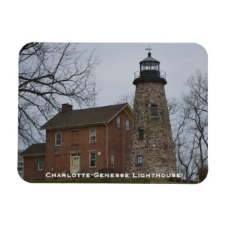 Charlotte-Genesee Lighthouse & Keepers House Rectangle Magnet