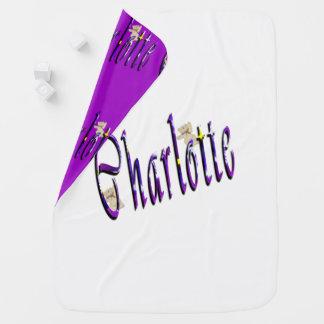 Charlotte Girls Name Logo, Baby Blanket