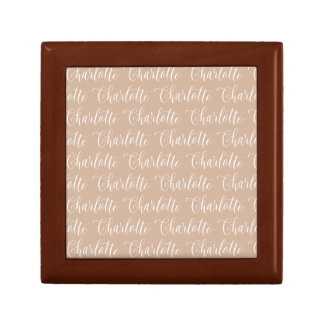 Charlotte - Hand Lettering Name Design Small Square Gift Box