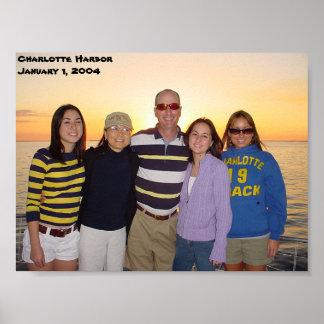 Charlotte Harbor Florida Sunset Jan 1 2004 Poster