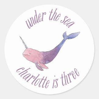 Charlotte is three classic round sticker