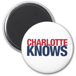 Charlotte Knows 6 Cm Round Magnet