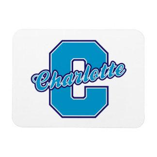Charlotte Letter Vinyl Magnet