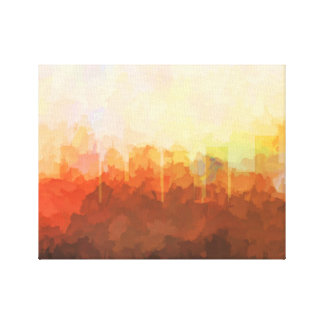 CHARLOTTE, N CAROLINA SKYLINE In the Clouds Canvas