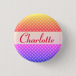 Charlotte name plate Anstecker 3 Cm Round Badge