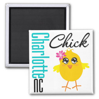 Charlotte NC Chick Refrigerator Magnets