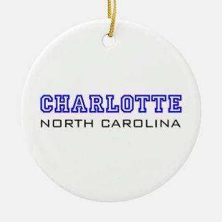 Charlotte, NC - Letters Ceramic Ornament