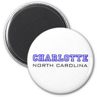 Charlotte, NC - Letters Refrigerator Magnet