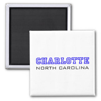 Charlotte, NC - Letters Square Magnet