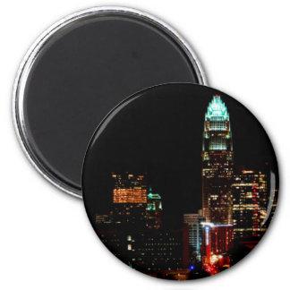 Charlotte NC Skyline 6 Cm Round Magnet