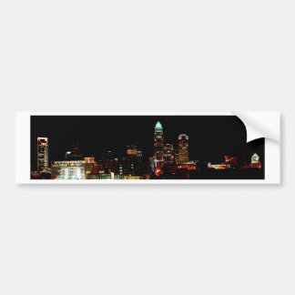 Charlotte NC Skyline Bumper Sticker