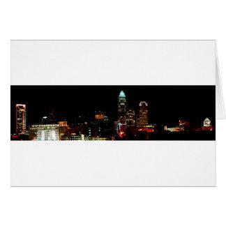 Charlotte NC Skyline Card