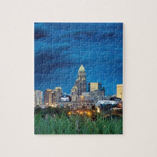 charlotte nc skyline jigsaw puzzle