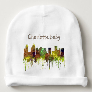 Charlotte NC Skyline SG Safari Buff Baby Beanie