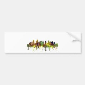 Charlotte NC Skyline SG Safari Buff Bumper Sticker