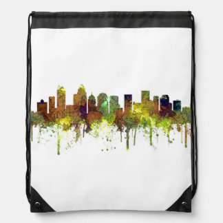 Charlotte NC Skyline SG Safari Buff Drawstring Bag