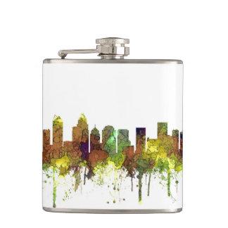 Charlotte NC Skyline SG Safari Buff Hip Flask