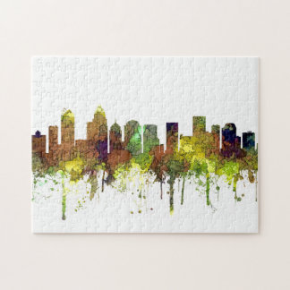 Charlotte NC Skyline SG Safari Buff Jigsaw Puzzle
