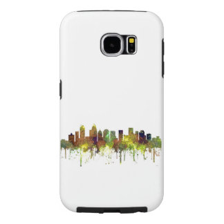 Charlotte NC Skyline SG Safari Buff Samsung Galaxy S6 Cases