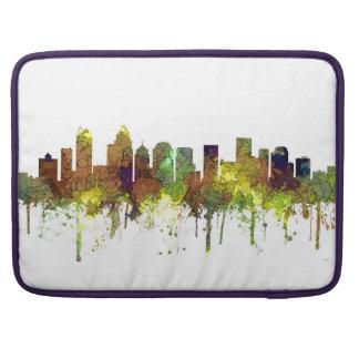 Charlotte NC Skyline SG Safari Buff Sleeve For MacBooks