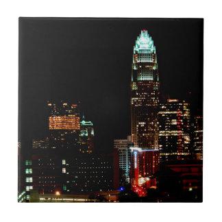 Charlotte NC Skyline Tile