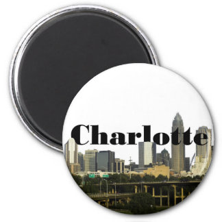 Charlotte NC Skyline with Charlotte in the Sky Refrigerator Magnets