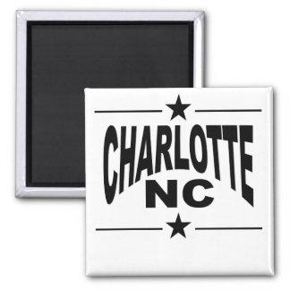 Charlotte NC Square Magnet