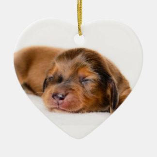 Charlotte Newborn-Lovebugdoxies puppy keepsake Ceramic Ornament