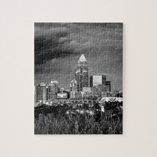 charlotte north carolina architecture skyline buil jigsaw puzzle
