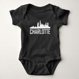 Charlotte North Carolina City Skyline Baby Bodysuit