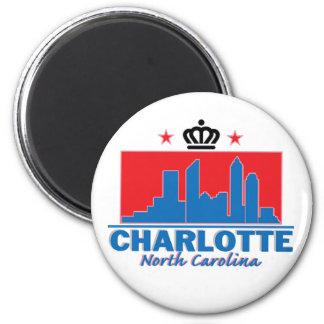 Charlotte North Carolina Fridge Magnet
