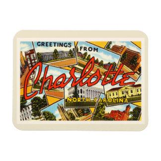 Charlotte North Carolina NC Old Vintage Postcard- Rectangular Photo Magnet